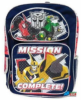 """Transformers Prime Large 16"""" Cloth Backpack - """"Mission Complete"""""""