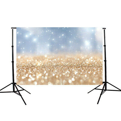 5x3FT Golden Glitter Backdrop Christmas Studio Photo Prop Photography Background