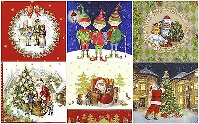6x Cocktail 25x25 cm Paper Napkins for Decoupage Party Craft Christmas Mix 2