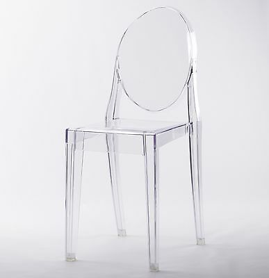 Clear Ghost Dining Chair Transparent Contemporary Modern Style Victoria Starck