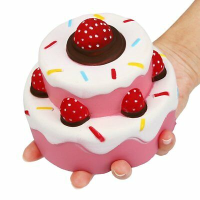 12CM Jumbo Squishy Strawberry Cake Scented Super Slow Rising Kids Toy Cute Gift