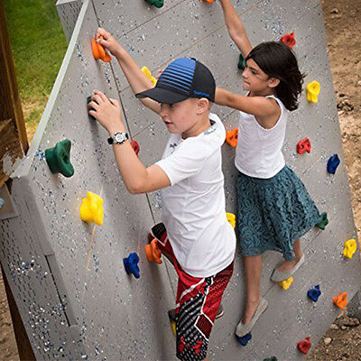 6pcs Children's Climbing Wall Stones Holds Hand Feet Starter Kit Bolt On Rock