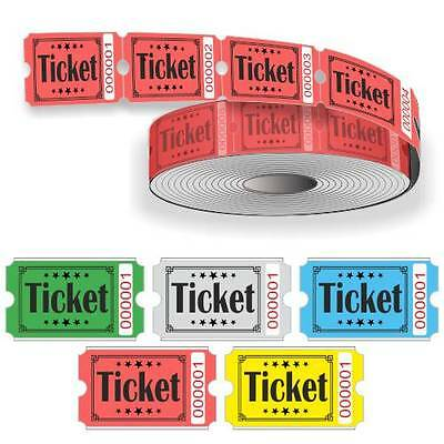 Admission & Entry ticket rolls with Serial numbering 1000 tickets per roll