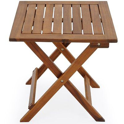Wooden Outdoor Side Table Patio Garden Small Folding End Coffee Tea Furniture