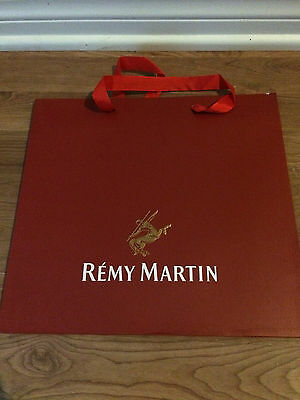 Rare New Remy Martin Gift Bag with Handles Free Shipping Red Color Bag
