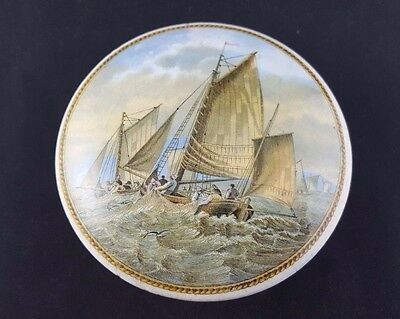 Prattware Lid with Base 'Hauling In The Trawl'