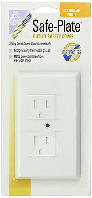 2 Mommys Helper Baby Safe Plate Electrical Outlet Covers Standard White #0790