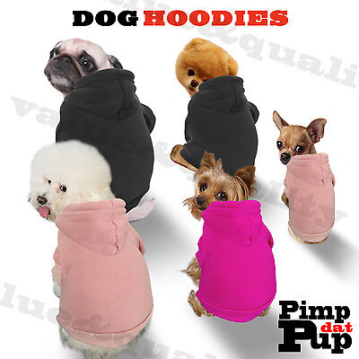 dog coat hoodie pet clothes sweater top small medium dog puppy pup UK seller