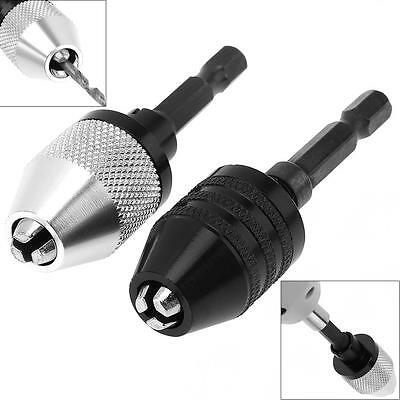 """1/4"""" Shank 0.3-6.5mm Drill Chuck Impact Screwdriver Adapter for Electric Grinder"""