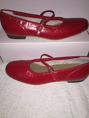 Red Scoop Square Dance Shoes Women's Size 10AA