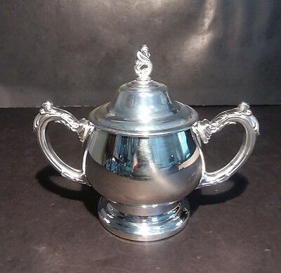 Oneida Silversmiths Sea Crest Sugar Bowl With Lid 3103 Silverplate