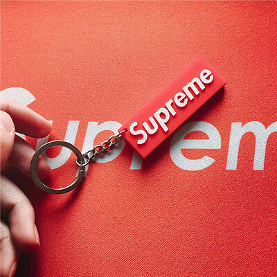 Supreme Box Logo Keychain Rubber 3D Supreme Red - Free Shipping in US