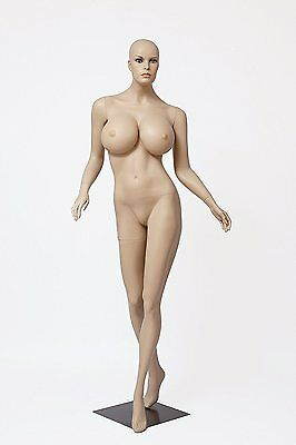 Realistic Female Mannequin, Includes Wig, Large Bust, Made of Fiberglass (lcy2)