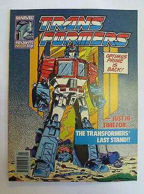 Transformers comic issue 331 Penultimate issue Marvel UK January 1992