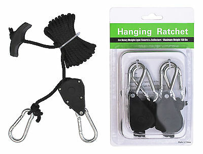 CLT Heavy Duty Adjustable Grow Light Fixture Ratchet Hangers