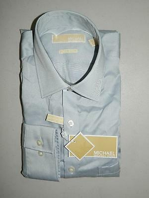 Michael Kors Men's Dress Shirt Gray Non Iron NWT Size 15 34/35 DS1577