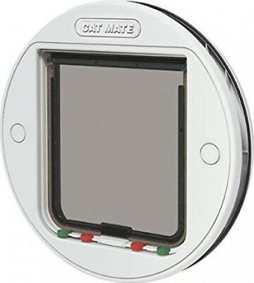 Pet Mate Large Glass Fitting Cat Flap with 4-Way Locking System | White