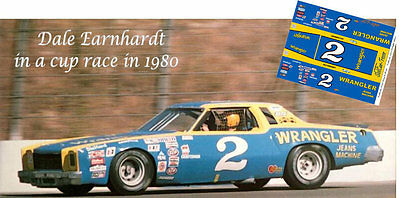 CD_2901 #2 Dale Earnhardt Wrangler 1975  Monte Carlo  1:25 Scale Decals