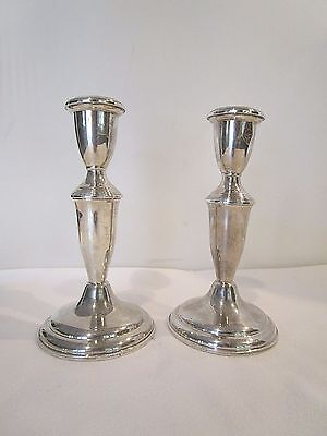Pair of Weighted Sterling Silver Candlesticks # 620 by Empire