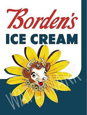 Borden's Ice Cream Elsie High Quality Metal Magnet 3 x 4 inches 9116