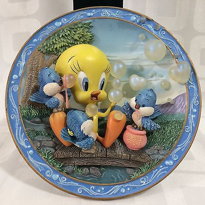 WISHES OH SO TWEET Tweety 3D Collectible Bradford Exchange 1999 Collector Plate