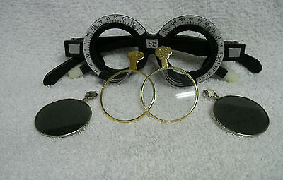 Trial or Optometrist Trial Frame Steampunk Style with colored and gold frame
