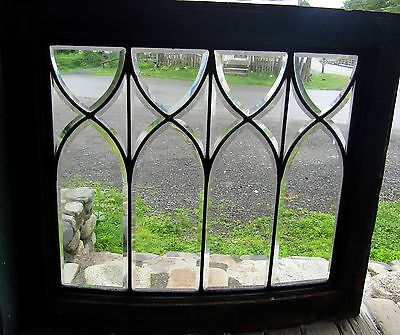 Antique Curved Beveled Glass Window
