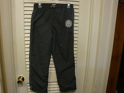 Place Girl's Boy's Unisex  Xl 14 Dark Gray Lined Athletic Track Sweatpants Euc