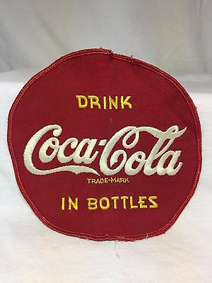 "Rare Nice Large Vintage 7"" Embroidered Drink Coca Cola In Bottles Jacket Patch"