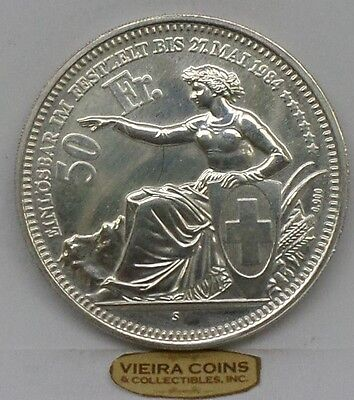 "1984 Switzerland "" Silver "" 50 Francs, Shooting Festival - #9461"