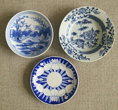 Chinese Japanese blue and white Porcelain Bowls/ Saucer