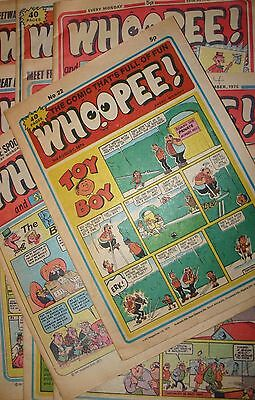 Whoopee! 1974 - 1976 Vintage Comic Collection of 11 Various Collectors Rare