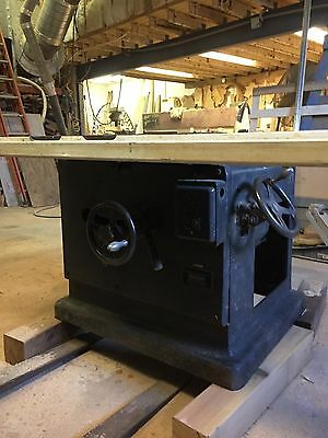 "OLiver 18"" industrial table saw, 230 three phase, cabinetmakers quick adjustment"
