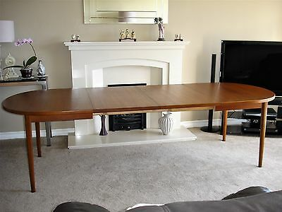 """Look A Beautiful Vintage Nils Jonsson """"ove"""" Double Extending Teak Dining Table"""
