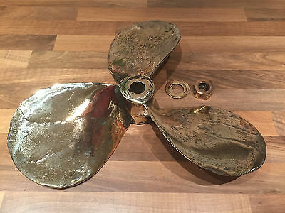 "Original Dunkirk Little Ship "" PETRA"" Bronze Propeller Nautical Maritime Boat"