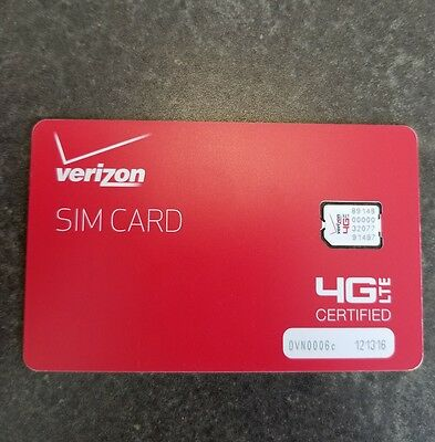 Verizon Wireless 4G LTE NANO Sim Card 4FF NFC | Genuine OEM Prepaid or Contract