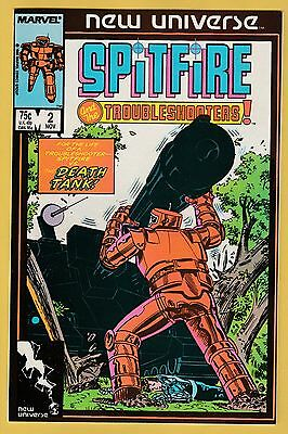 Spitfire And The Troubleshooters Marvel Comic Book #2 Sept 1988