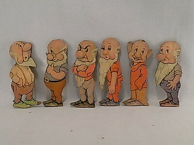 ~~Vintage Snow White And The Seven Dwarves Folk Art Wall Hangings ~~