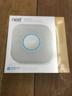 Nest Protect Smoke Carbon Monoxide Alarm - 2nd Generation Wired - S3003LWES NEW