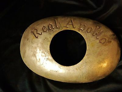Antique Cast Iron REAL APOLLO Stove Part Thermometer Housing Parts Steampunk