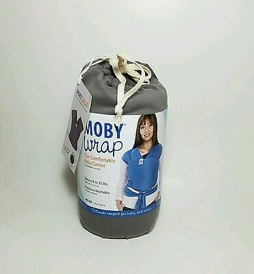 Moby Wrap Baby Carrier Slate New & Authentic 100% Cotton - FAST SHIPPING