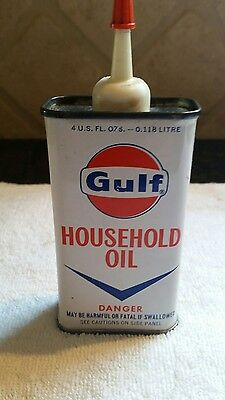 Gulf Household Oil Can Vintage Gas And Oil Can.