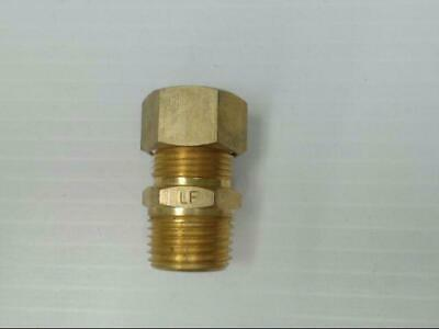 """Brass P-68-108-LF Tube to Male Straight Pipe 5/8"""" x 1/2"""" Adapter Fitting *Qty 10"""