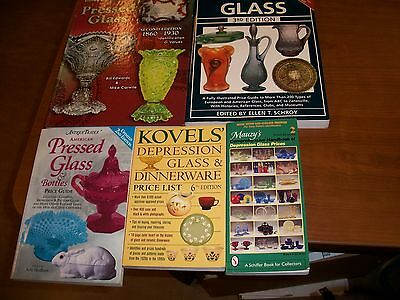 Lot of 5, Pressed and Depression Glass Price Guides