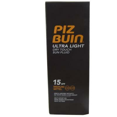 ** Piz Buin Ultra Light Dry Touch Sun Fluid Spf 15 150Ml New ** Non Greasy