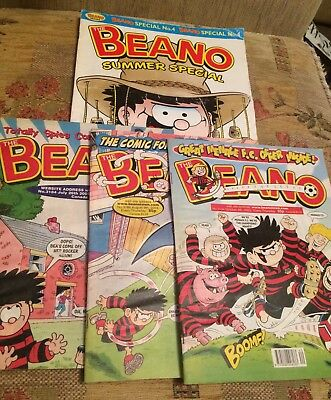 BEANO - 26th JULY, 9th Aug -4th Oct- 2003 ) Plus Beano Summer Special No4 Comic
