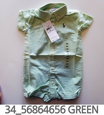 Polo Ralph Lauren Baby Toddler Clothing Creeper 3/6/9/12 Months New w Tag #34