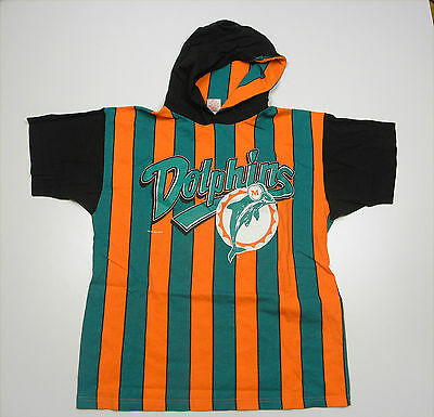 NFL 1994 Miami Dolphins Hoodied Shirt Vintage Rare Jersey