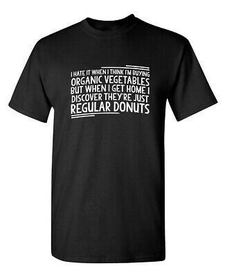 VEGETABLES DONUTS Sarcastic Graphic Gift Idea Adult Humor Funny Novelty T-Shirt