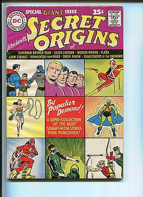 Secret Origins  #1   6..5  Fine+  One Of The Greatest Annuals Ever Published!